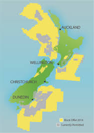 New Zealand On World Map by On The Block Forest And Bird