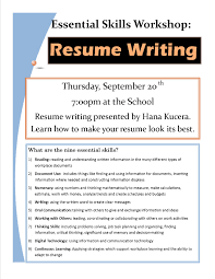 resume writing workshop resume example