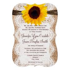 Burlap And Lace Wedding Invitations Sunflower Wedding Invitations Rustic Country Wedding Invitations