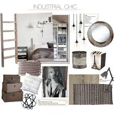 Industrial Chic Decor Polyvore with Industrial Chic Bedroom Ideas
