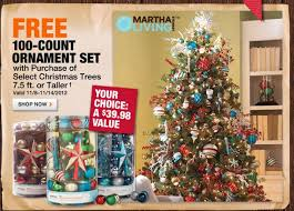 free 100 count ornament set with tree purchase at home depot