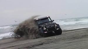 mercedes g class 6x6 brabus tuned g63 amg 6x6 playing in the chilean sand mercedesblog