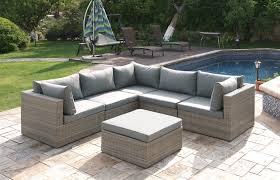 Corner Sectional Sofa Lizkona Outdoor Patio 6 Pcs Corner Sectional Sofa Set By Poundex