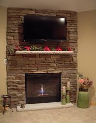 Decorations Tv Over Fireplace Ideas by Corner Fireplace Ideas In Stone Bright Idea 20 Decorations