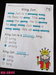1st Grade Reading Comprehension Worksheets Miss Giraffe U0027s Class Phonics Fluency Notebooks