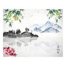 japanese lake wall mural brewster home fashions touch of modern japanese lake wall mural