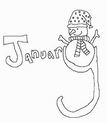 coloring page january color pages the make a snowman coloring
