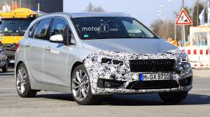 refreshed bmw 225xe prototype spied testing