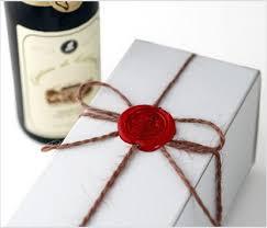 wedding gift box vineyard wine candle in wedding gift box hansonellis