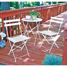 Trentino Outdoor Fireplace by Trentino 3 Piece Folding Bistro Set White All Patio