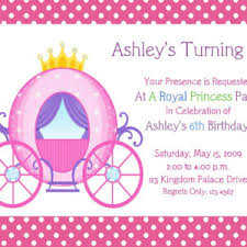 free princess birthday party invitations cards saflly free
