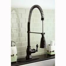 spiral kitchen faucet antique pullout spray sidespray pre rinse brass rubbed bronze
