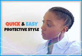 natural hair after five styles how to quick cute easy protective style on short natural hair