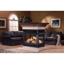 napoleon gvf40 vent free natural gas island fireplace gas log guys