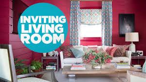 inviting living room video hgtv