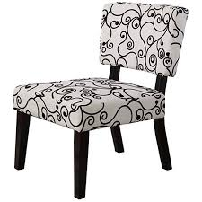 Black And White Accent Chair Linon Accent Chair 17 5 Inch Seat Height Black And White