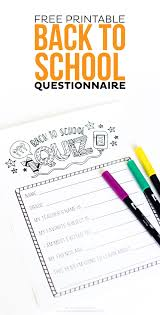 free printable back to questionnaire thirty handmade days