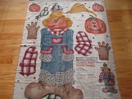 scarecrow fabric halloween fabric panel daisy kingdom fabric