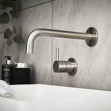 wall mounted ss sink forge stainless steel wall mounted basin mixer bathstore