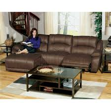 power reclining sectional 3 pc lsf chaise armless chair rsf recliner