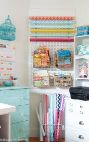 How To Organize A Garage How To Organize A Craft Room Work Space The Happy Housie