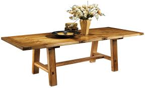 new expandable trestle table southwest furniture santa fe style