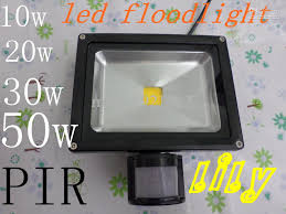 Led Outdoor Sensor Light Motion by Led Outdoor Flood Light With Sensor Pir Led 10w 20w 30w 50w