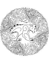 jaguar mandala coloring free printable coloring pages