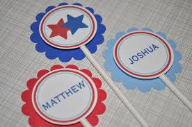 12 boys birthday or baby shower cupcake toppers sports all star