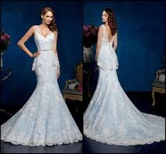 gorgeous blue wedding dresses ice cream v neck sleeveless chapel