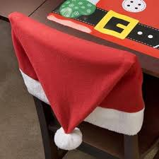 santa chair covers santa hat chair covers these would be soo for my christmas
