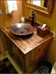 Rustic Bathroom Vanity by Rustic Log Bathroom Vanity Rustic Log Bathroom Vanity With Copper