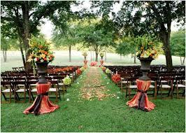outdoor fall wedding ideas outstanding fall inspired wedding ceremony arrangement