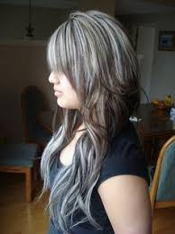 hair platinum highlights black hair with chunky highlights black with chunky