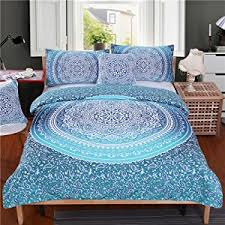 How To Make A Duvet Cover Stay Amazon Com Sleepwish 4 Pcs Bohemian Luxury Boho Bedding Crystal