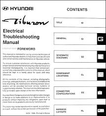 1997 hyundai tiburon electrical troubleshooting manual original