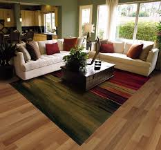 Traditional Living Laminate Flooring Be Equipped Large Clear Glass Paneled Windows Brown Wood
