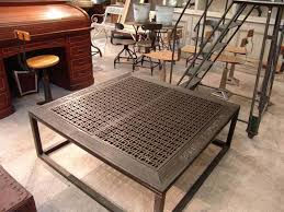 industrial square coffee table french vintage industrial coffee table with grate top sold