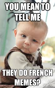 Meme French - you mean to tell me they do french memes skeptical baby quickmeme