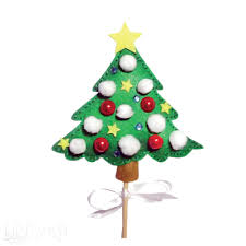 felt christmas tree stick puppet craft kit www dpcraft pl