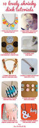 shrinky dink jewelry tutorial craft diy indie necklace button