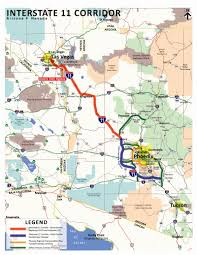 Map Phoenix Arizona by Map Of Proposed Interstate 11 Which Would Connect Phoenix And Las