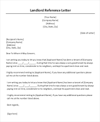 landlord reference letter landlord recommendation letter sample
