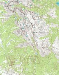 Wy Map Wind River Trail Maps Wyoming