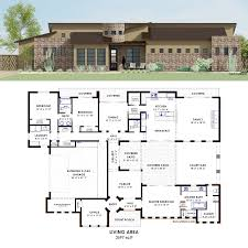 Butlers Pantry Floor Plans by Contemporary Side Courtyard House Plan 61custom Contemporary