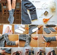 Goods Home Design Diy Diy Insulated Socks From Old Sweater Home Design Garden