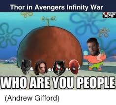 Who Are You People Meme - thor in avengers infinity war veldus pics whoare you people andrew