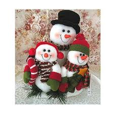 cozy snowmen family plush doll for décor gift evtoys