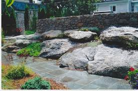 Garden Rock Wall Granite Walls And Rock Garden Traditional Landscape