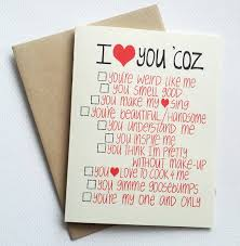 cards for him you could diy i you card with list
